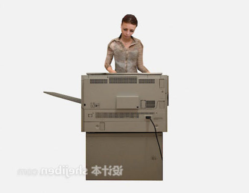 Printer With Woman