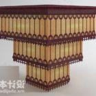 Kwadratowa lampa sufitowa dekoracyjna