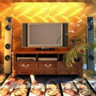 Tv Cabinet Set With Standing Speaker