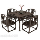 Chiński Stolik Do Herbaty I Krzesło Meble