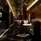 Restaurant Luxury Decoration Interior Scene