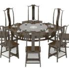 Grande tavola rotonda cinese tradizionale