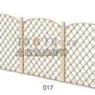 Wood Fence Lattice Style