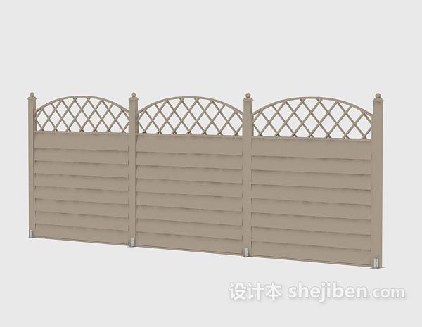 Wood Fence European Style