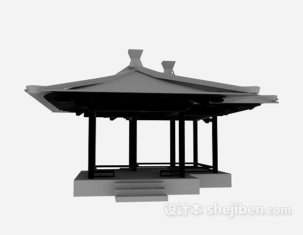 Wood Pavilion Chinese Style