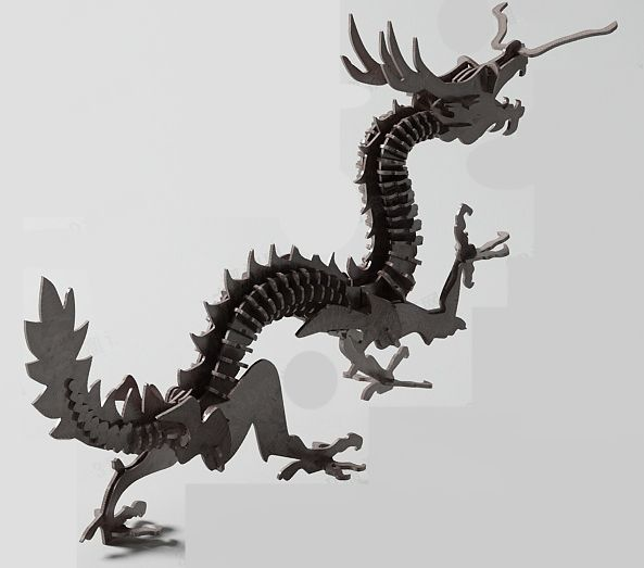 Wood Dragon Carved