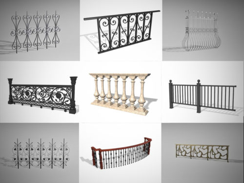 10 أنواع من مجموعة نماذج حديدي 3D