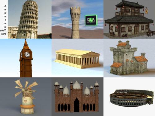 10 modelos 3D gratuitos de edificios antiguos - Semana 2020-39