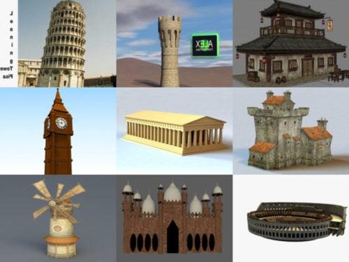 10 Ancient Building Free 3D Models – Week 2020-39