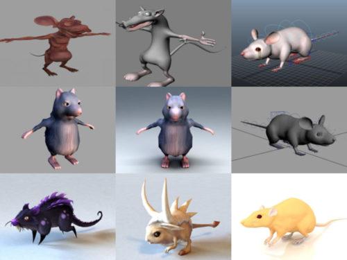 10 eläinrotta ilmaista 3D-mallikokoelmaa