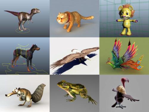 10 animal Rigged Modelos 3D gratuitos - Semana 2020-39
