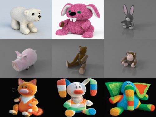 10 eläimen täytettyä lelun 3D-mallia - viikko 2020-39