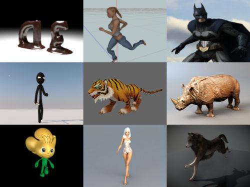 10 modelos 3D gratuitos animados - Semana 2020-39