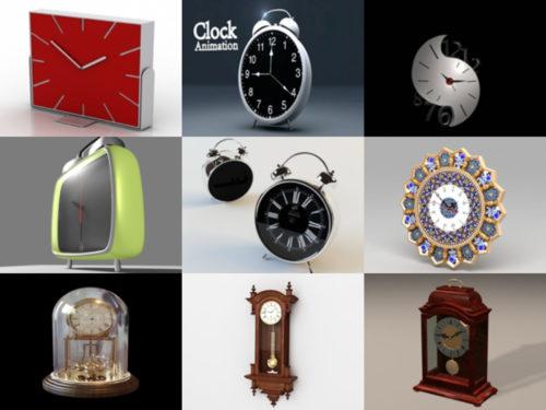 10 Beauty Clock Free 3D Models – Week 2020-38
