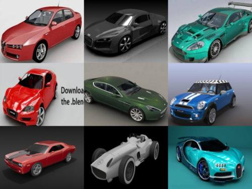 10 Blend Modelos de coches 3D - Semana 2020-38