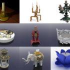 10 Candlestick Free 3D Models – Week 2020-38