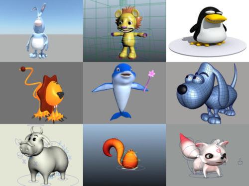 10 Cartoon Animal Maya 3D Models – Week 2020-38