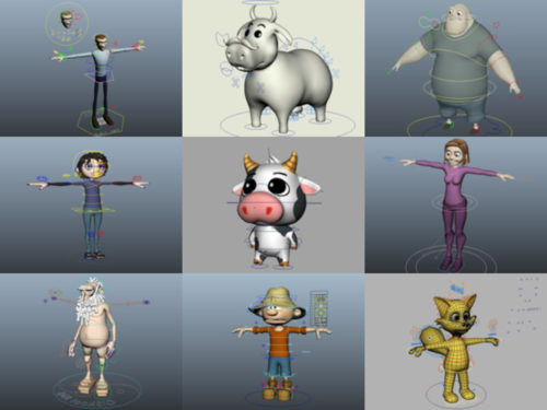 10 Cartoon Rig Free 3D Models – Week 2020-38