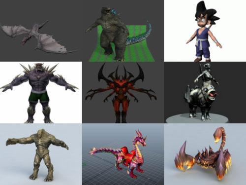 10 نماذج مجانية للحيوانات ثلاثية الأبعاد - الأسبوع 3-2020