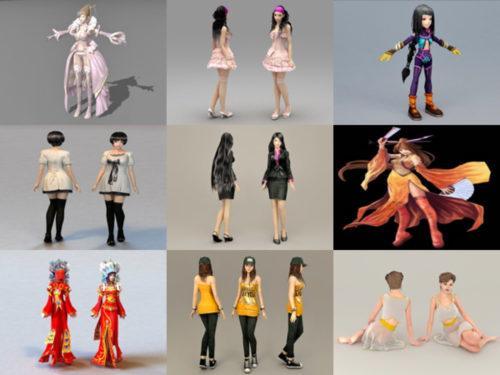 10 naishahmoa 3D-mallia - viikko 2020-39
