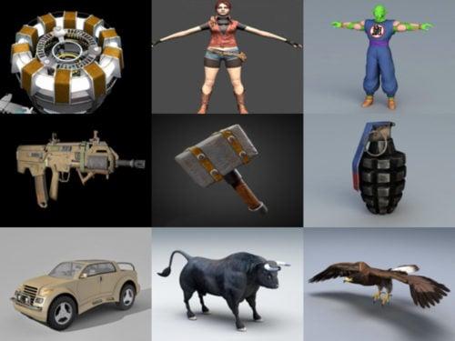 10 مجانا FBX نماذج ثلاثية الأبعاد - الأسبوع 3-2020
