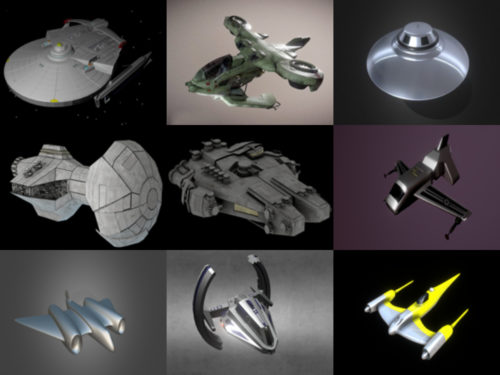 10 aviones futuristas gratis Blender Modelos 3D - Semana 2020-40