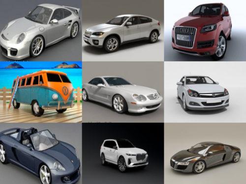 Colección de 10 modelos 3D sin coches alemanes