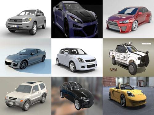 Colección de 10 modelos japoneses sin coches en 3D