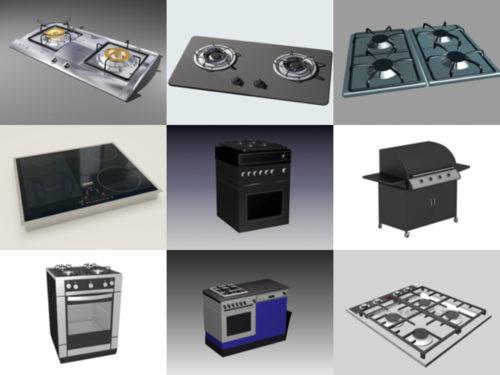 10 نماذج ثلاثية الأبعاد مجانية لمواقد المطبخ - الأسبوع 3-2020