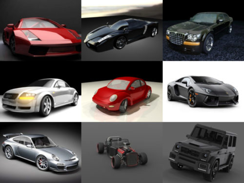 10 coches gratis Maya Modelos 3D - Semana 2020-38