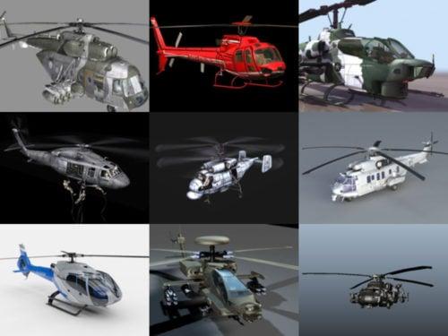 10 modelos 3D gratuitos de helicópteros militares - Semana 2020-40