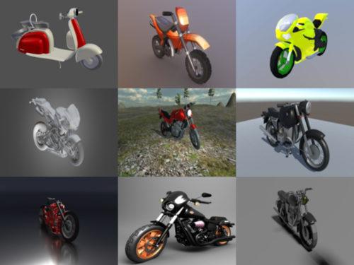 10 motos gratis Blender Modelos 3D - Semana 2020-40