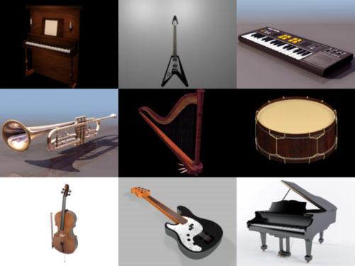 10 modelos 3D de instrumentos musicales - Semana 2020-39