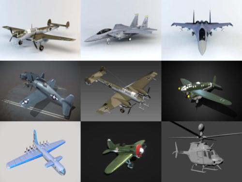 10 aviones realistas gratis Blender Modelos 3D - Semana 2020-40