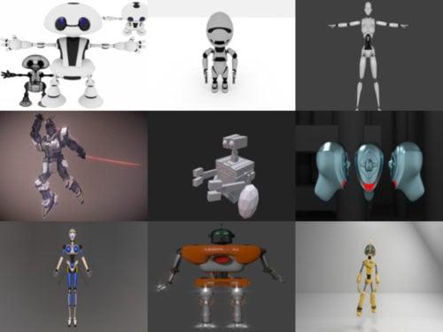 10 Robot Gratis Blender Modelos 3D - Semana 2020-40