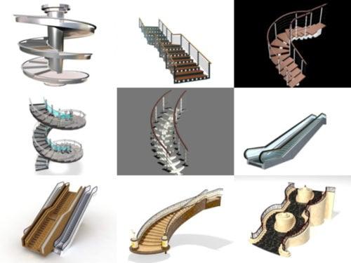 10 نماذج Stair Free 3D - الأسبوع 2020-38