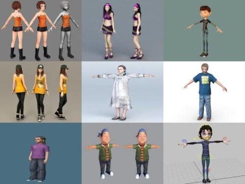 10 teini-ikäisten ilmaista 3D-mallikokoelmaa