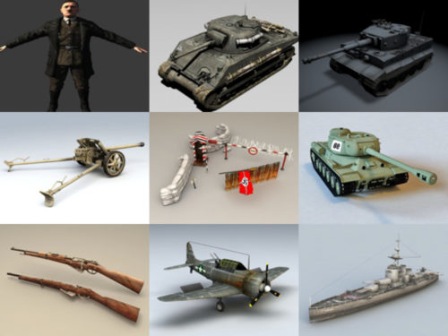 10 WW2 Free 3D Models – Week 2020-38