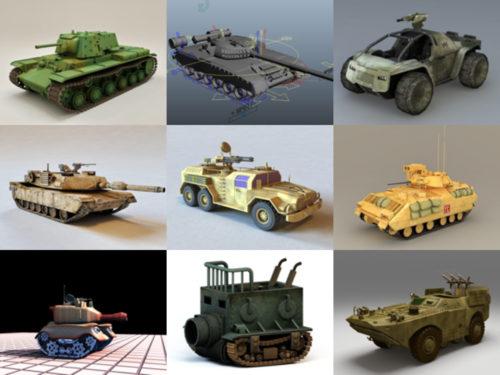 12 نموذجًا ثلاثي الأبعاد خالٍ من المركبات المدرعة - الأسبوع 3-2020