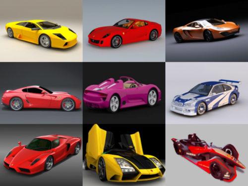 12 modelos 3D sin coches deportivos - Semana 2020-38