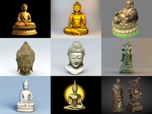 12 estatua de Buda gratis modelos 3D