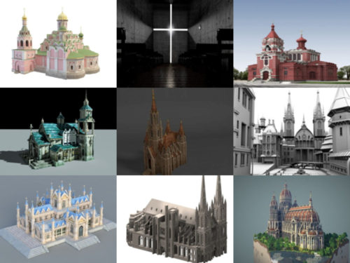 15 Church Building Free 3D Models