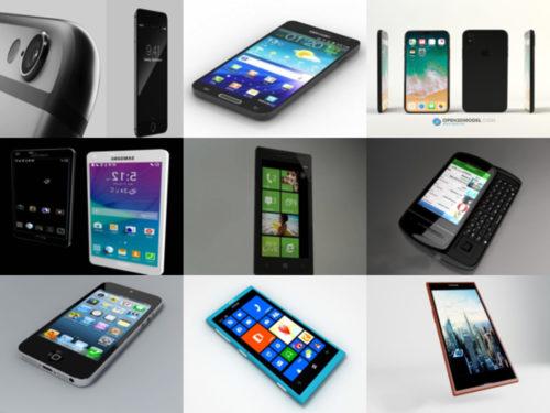 15 colección de modelos 3D gratuitos para teléfonos inteligentes de gran detalle