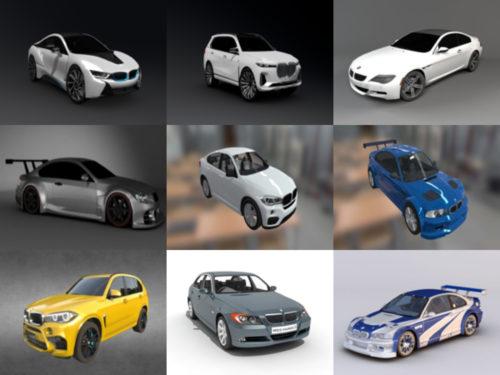 15 korkealaatuista BMW-autovapaata 3D-mallikokoelmaa