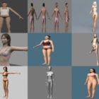 15 Underwear Character Free 3D Models