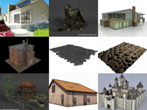 العمارة 20 OBJ نماذج ثلاثية الأبعاد - الأسبوع 3-2020