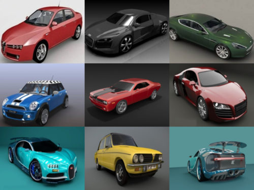 20 Blender Car 3D Models High Quality Collection