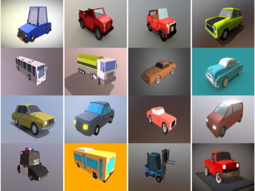 20 sarjakuva-autoa ilmaista 3D-mallia - viikko 2020-40
