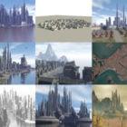 Colección de 20 modelos 3D gratuitos de ciudades