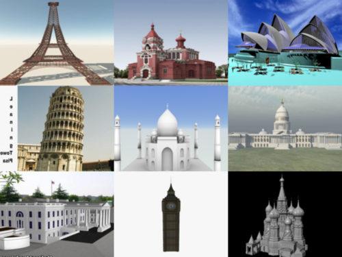 20 kuuluisan arkkitehtuurin ilmaista 3D-mallikokoelmaa